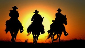 cowboys sunset